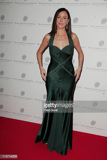 Linzi Stoppard during Raisa Gorbachev Foundation Party Red Carpet at Hampton Court Palace in London United Kingdom