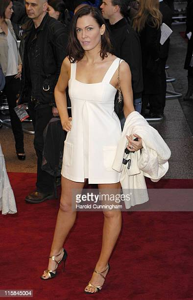 Linzi Stoppard during 'Shooter' London Premiere Red Carpet at Odeon West End in London Great Britain
