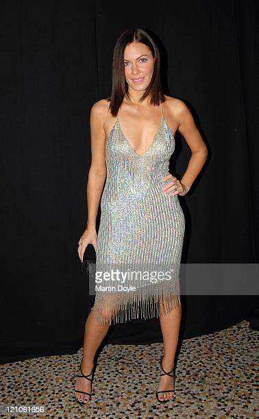 Linzi Stoppard during Sparks Fashion Show Arrivals October 19 2006 at Natural History Museum in London Cromwell Road Great Britain