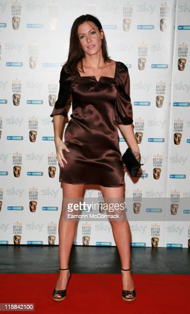 Linzi Stoppard during The Orange British Academy Film Awards 2007 Nomination Reception Party at Natural History Museum London in London Great Britain