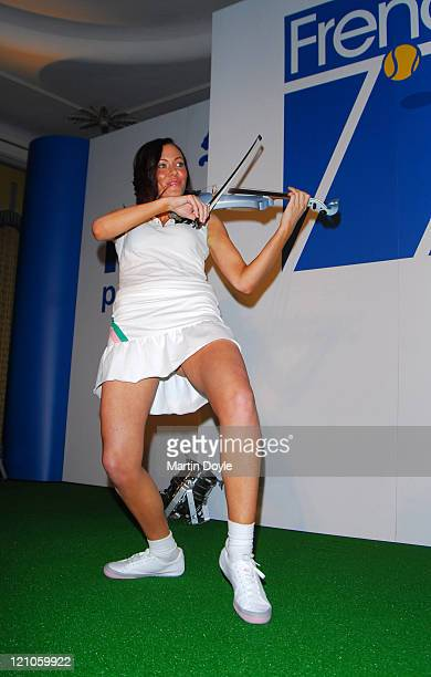 Linzi Stoppard wearing Puma French 77 during Puma French 77 UK Launch Party April 19 2007 at Claridges in London Great Britain