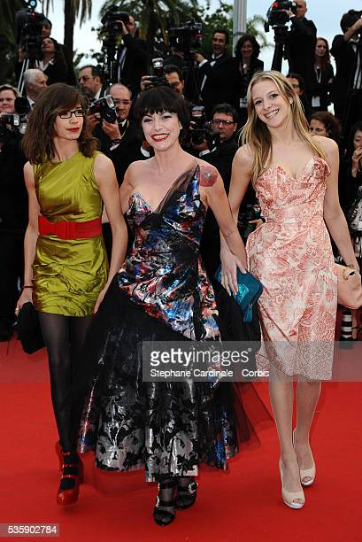 Lio and her daughter Nubia at the Premiere for 'You will meet a tall dark stranger' during the 63rd Cannes International Film Festival