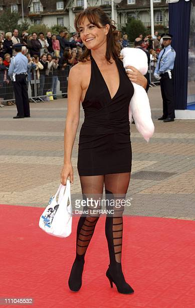 Lio arriving at the closing ceremony in Deauville France on September 12 2004
