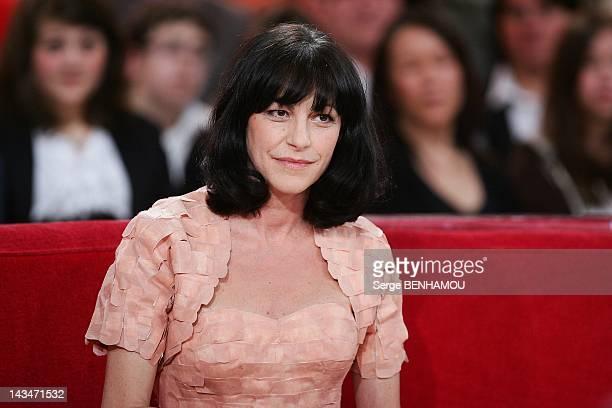 Lio attends Vivement Dimanche Tv show on April 25 2012 in Paris France