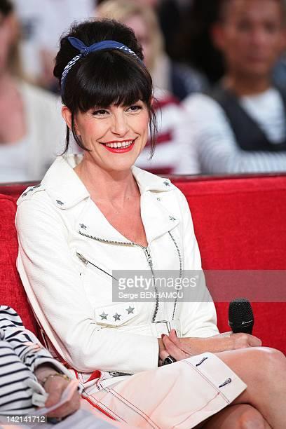 Lio attends Vivement Dimanche Tv show on September 21 2011 in Paris France
