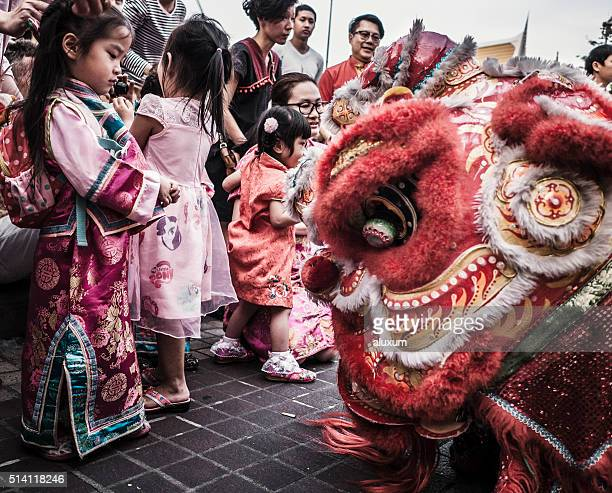 Lion dance Chinese New Year Bangkok