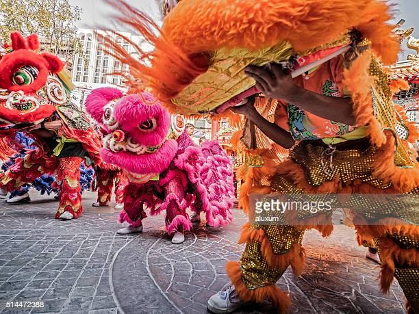 Du nouvel an chinois Lion danse Bangkok
