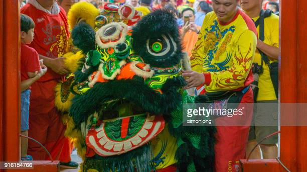 Lion Dancing Performer  during Chinese New Year