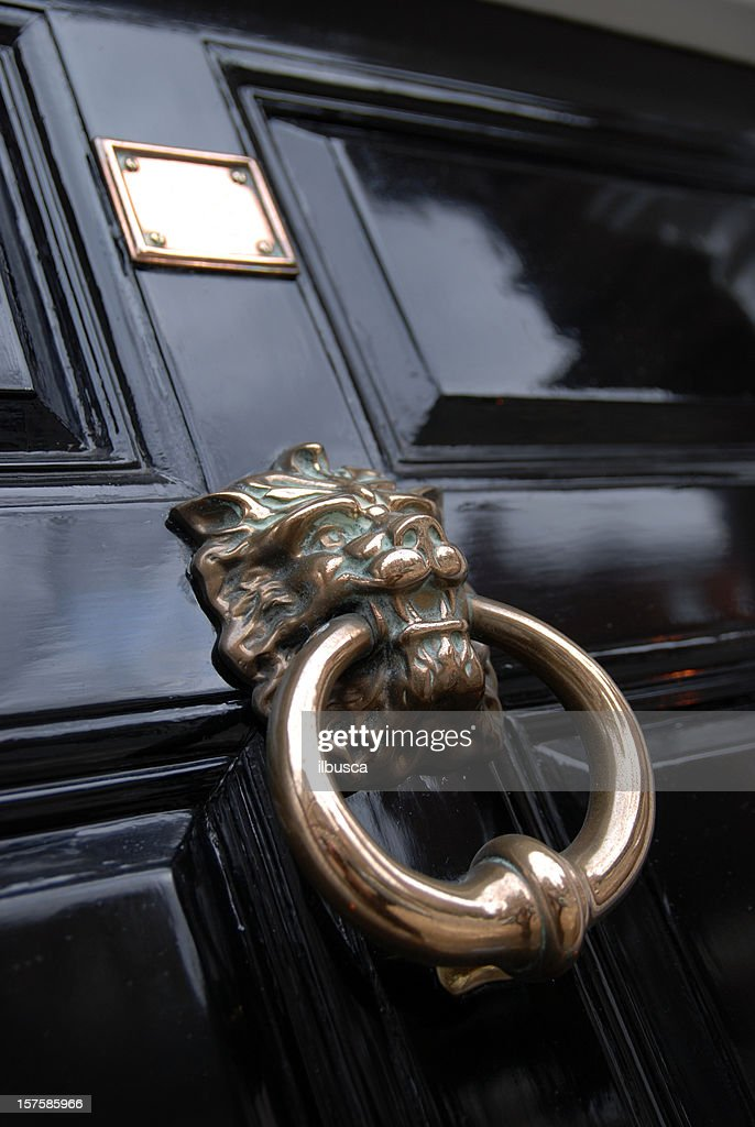 Lion door knocker : Stock Photo