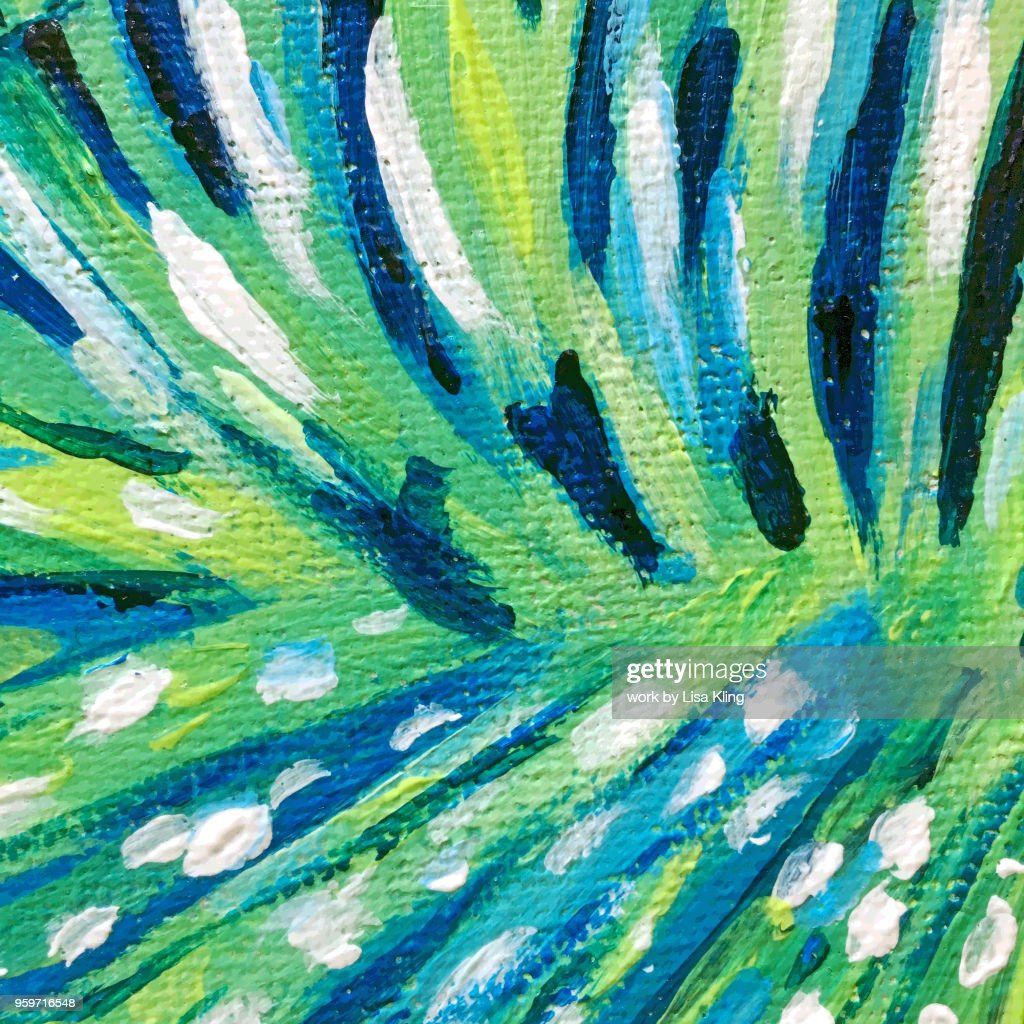 Lion Fish Green Stripes & Dots, : Stock-Foto