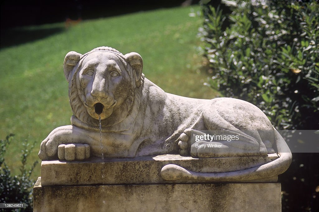 Lions Fountain Florence.Lion Fountain Spouting Water Bardini Gardens Florence Italy