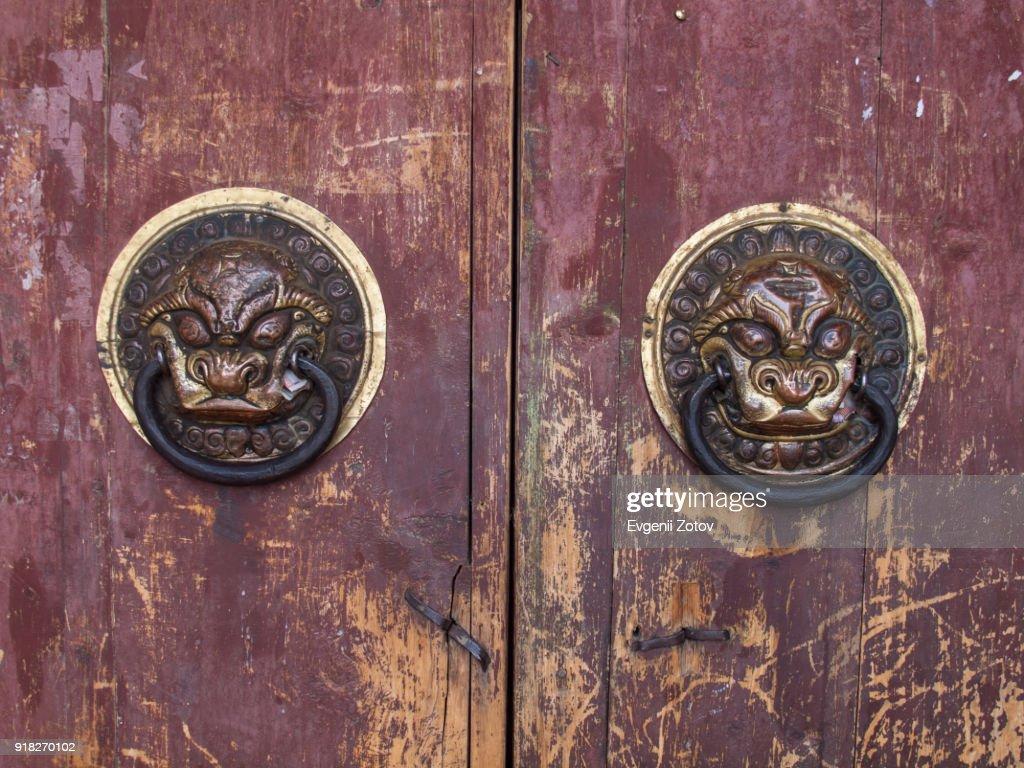 Lion Head Shaped Door Knob In Erdene Zuu Monastery Mongolia Stock ...