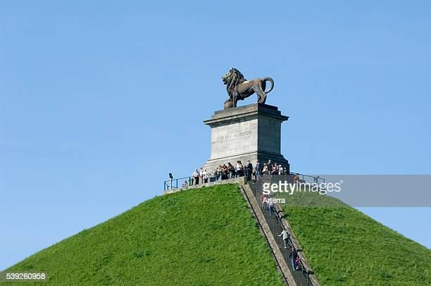 Lion Hill / Lion's Mound / Butte du Lion memorial monument of the 1815 Battle of Waterloo, Eigenbrakel near Brussels, Belgium.