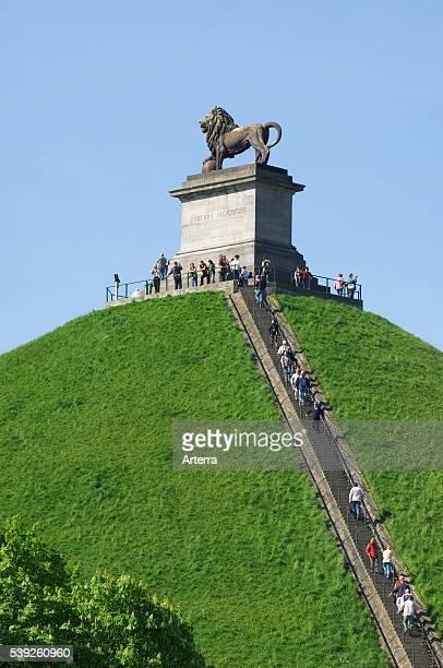 Lion Hill / Lion's Mound / Butte du Lion memorial monument of the 1815 Battle of Waterloo Eigenbrakel near Brussels Belgium