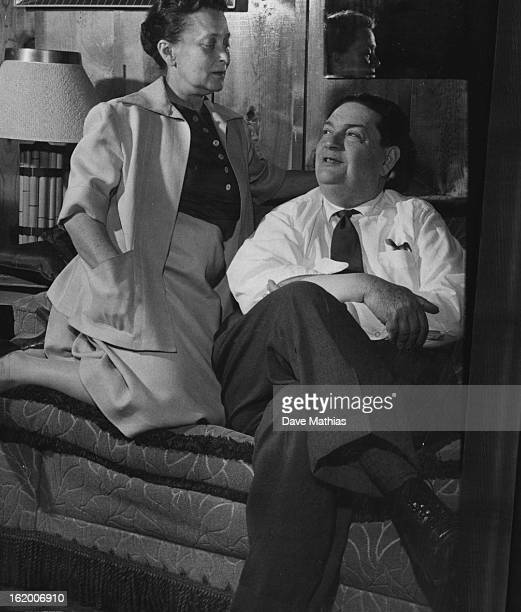 JUL 26 1957 JUL 27 1957 Lion of the Aspen Festival is Darius Milhaud composerin residence shown here with his wife Madeline