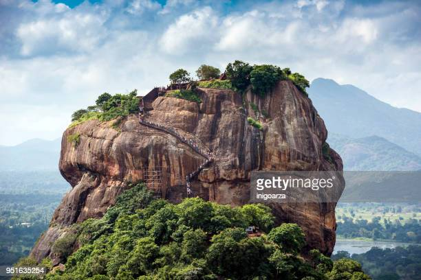 lion rock, dambulla, matale district, central province, sri lanka - sigiriya stock photos and pictures