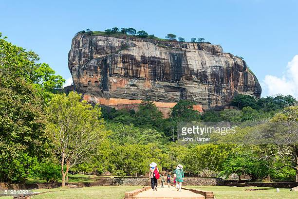 lion rock, sigiriya, sri lanka - sigiriya stock photos and pictures