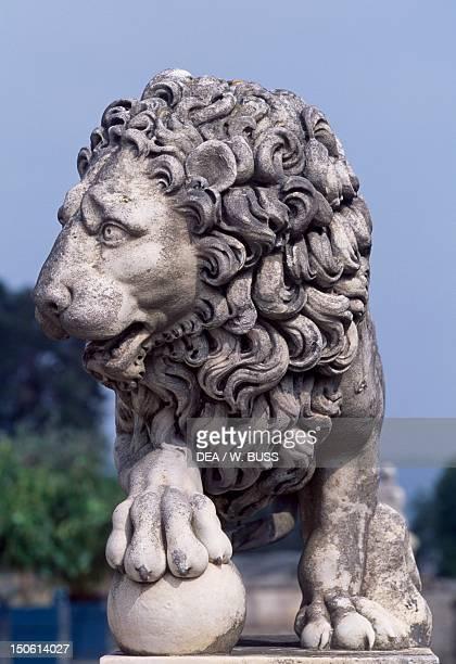Lion statue from Chateau de Compiegne Picardy France