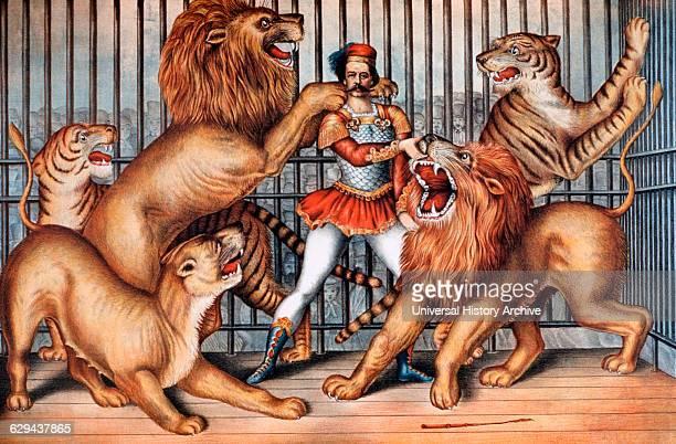 Lion Tamer Circus Poster 1873