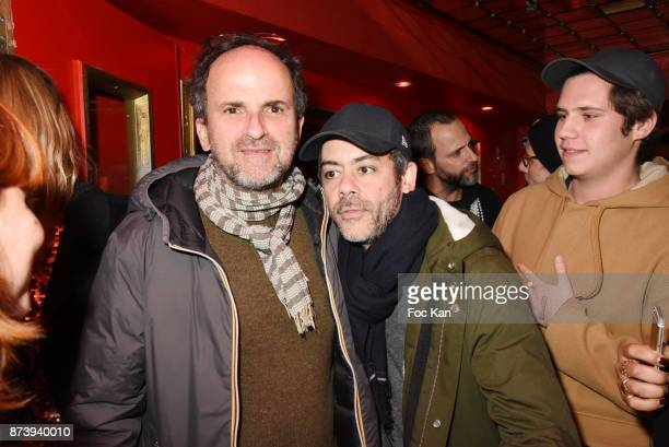 Lionel Abelanski and Manu Payet attend 'Les Fooding 2018' Cocktail at Les Follies Pigalle 11 Place Pigalle on November 13 2017 in Paris France