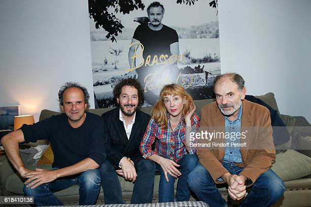 Lionel Abelanski Guillaume Gallienne Julie Depardieu and JeanPierre Darroussin attend the Brassens Behind the Scenes and Press Junket on October 17...