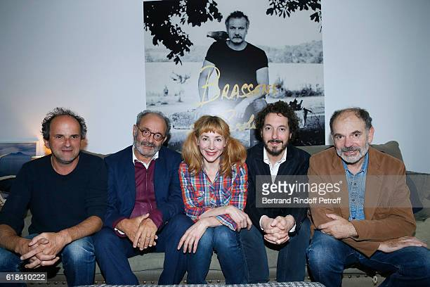 Lionel Abelanski Louis Chedid Guillaume Gallienne Julie Depardieu and JeanPierre Darroussin attend the Brassens Behind the Scenes and Press Junket on...