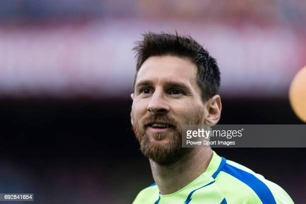 Lionel Andres Messi of FC Barcelona during the Copa Del Rey Final between FC Barcelona and Deportivo Alaves at Vicente Calderon Stadium on May 27...
