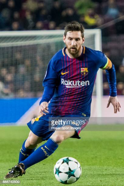 Lionel Andres Messi of FC Barcelona in action during the UEFA Champions League 201718 match between FC Barcelona and Sporting CP at Camp Nou on 05...