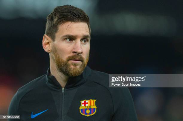 Lionel Andres Messi of FC Barcelona in training prior to the La Liga 201718 match between Valencia CF and FC Barcelona at Estadio de Mestalla on...