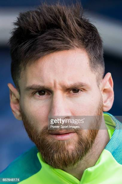 Lionel Andres Messi of FC Barcelona prior to the La Liga match between Atletico de Madrid and FC Barcelona at the Santiago Bernabeu Stadium on 26...