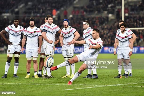 Lionel Beauxis and team of France during the NatWest Six Nations match between France and Italy at Stade Velodrome on February 23 2018 in Marseille...