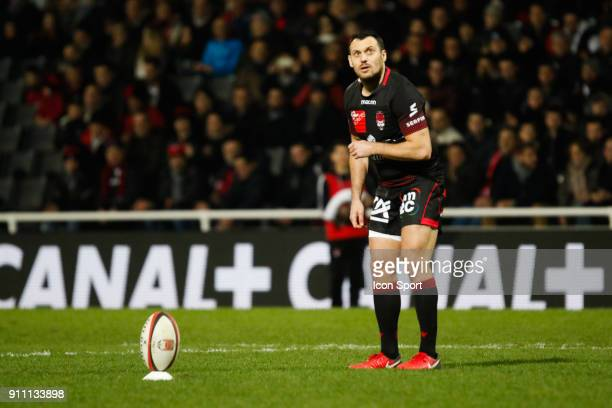 Lionel Beauxis of Lyon during the Top 14 match between Lyon and Agen at Gerland Stadium on January 27 2018 in Lyon France