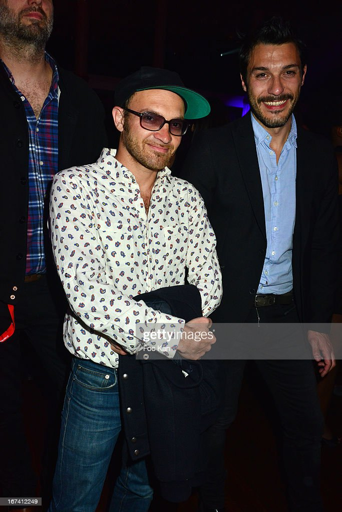 Lionel Bensemoun (C) attends the Villa Schweppes Launch Party For Cannes Film Festival 2013 At Salle Wagram on April 24, 2013 in Paris, France.