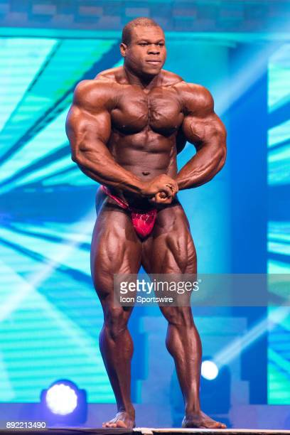 Lionel Beyeke competes in the Arnold Classic as part of the Arnold Sports Festival on March 4 at the Greater Columbus Convention Center in Columbus OH