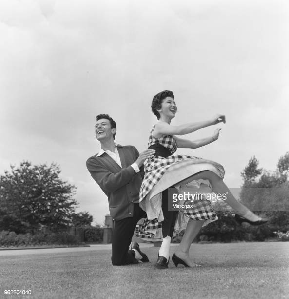 Lionel Blair and his sister Joyce flying high in a routine rehearsal 21st July 1959