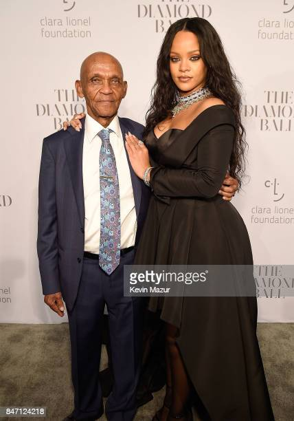 Lionel Braithwaite and Rihanna attend Rihanna's 3rd Annual Diamond Ball Benefitting The Clara Lionel Foundation at Cipriani Wall Street on September...