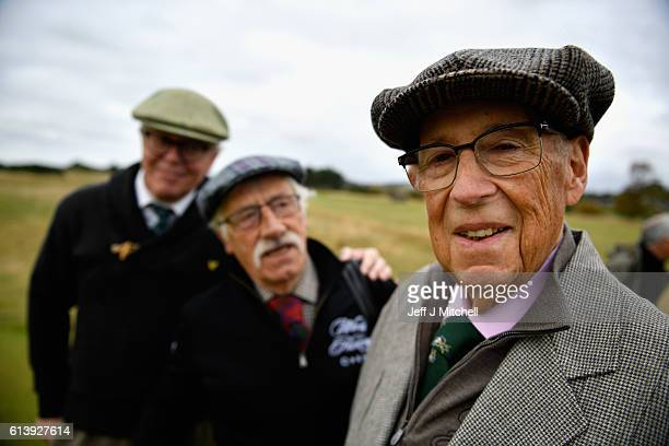 Lionel Freedman Chairman of The World Hickory Open Golf Championship attends this years open on October 11 2016 in Carnoustie Scotland The 2016 World...