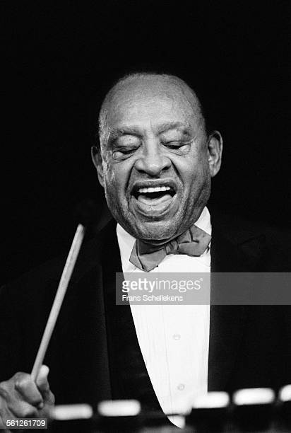 Lionel Hampton vibraphone performs at JazzMecca on October 31st 1992 in Maastricht Netherlands