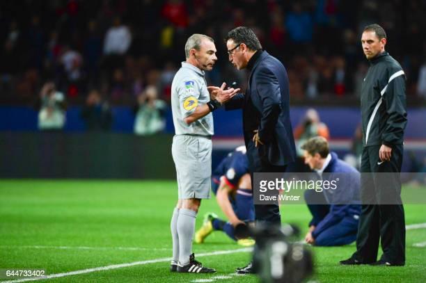 Lionel JAFFREDO / Christophe GALTIER - - Paris Saint Germain / Saint Etienne - 29eme journee de Ligue 1, Photo : Dave Winter / Icon Sport