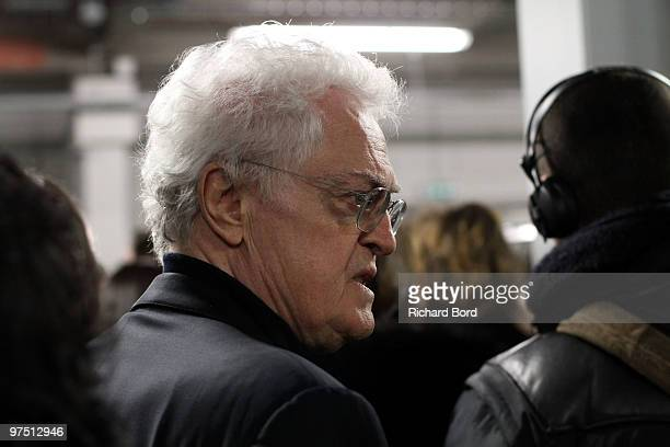 Lionel Jospin backstage of the Sonia Rykiel Ready to Wear show as part of the Paris Womenswear Fashion Week Fall/Winter 2011 at Halle Freyssinet on...