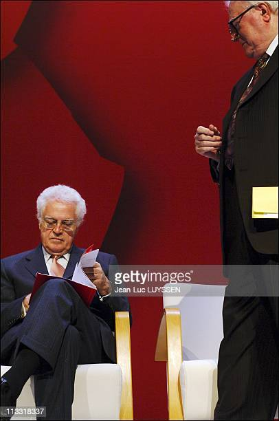Lionel Jospin During The Centenary Of The Socialist Party At The Library Of France On April 23Rd In Paris France Lionel Jospin And Pierre Mauroy