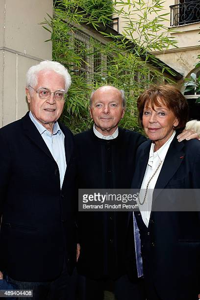Lionel Jospin Jacques Toubon and his wife Lise attend the Marek Halter Celebrates Rosh Hashanah In Paris on September 20 2015 in Paris France