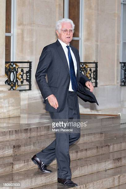 Lionel Jospin leaves the 'legion d'honneur' medal ceremony at Elysee Palace on September 17 2013 in Paris France