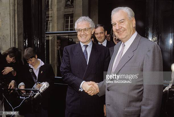 Lionel Jospin Succeeds Rene Monory On May 13th 1988 In ParisFrance