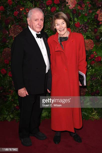 Lionel Larner and Glenda Jackson attend the 65th Evening Standard Theatre Awards at London Coliseum on November 24 2019 in London England