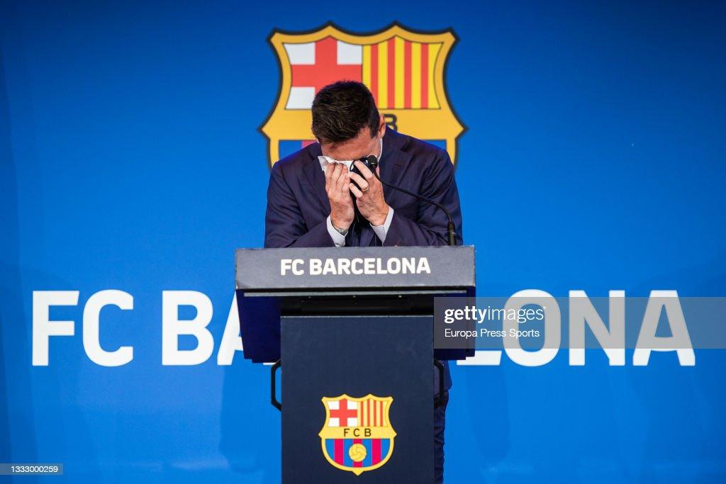 Leo Messi Press Conference : News Photo