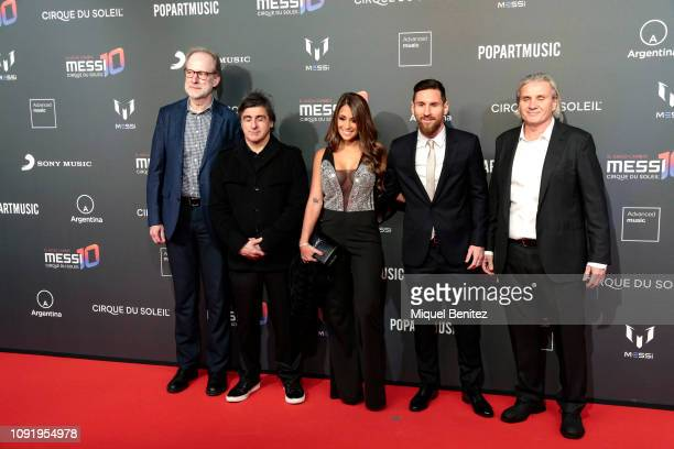 Lionel 'Leo' Messi of FC Barcelona and Antonella Rocuzzo attend the Cirque Du Soleil Inspired by Leo Messi presentation at the Camp Nou FC Barcelona...