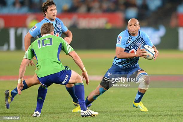 Lionel Mapoe of Bull during the Super Rugby match between Vodacom Bulls and Highlanders from Loftus Versfeld on May 18 2013 in Pretoria South Africa