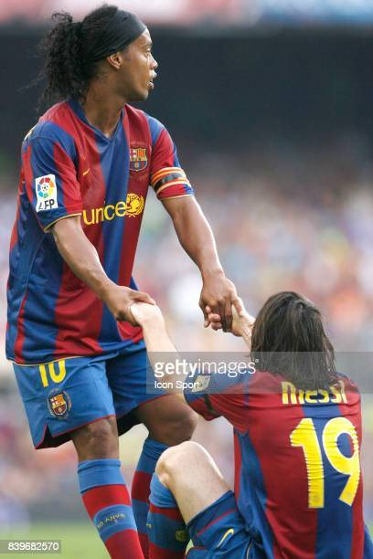 RONALDINHO / Lionel MESSI Barcelone / Athletic Bilbao 2eme journee de Liga