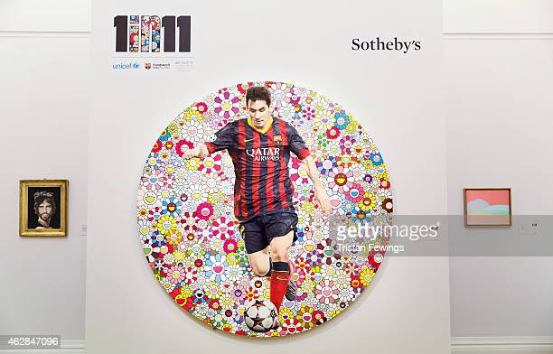 'Lionel Messi and a Universe of Flowers' by Takashi Murakami is one of the works featured in Sotheby's forthcoming auction on the 12th of Febrary...
